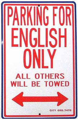 English Speaking Only
